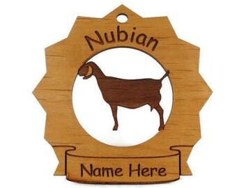 Nubian Goat Personalized Ornament