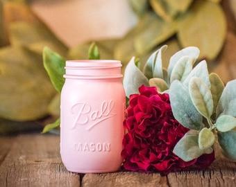 Pink Baby Shower Decor Centerpiece Mason Jar Wedding Vase Dorm Room Party