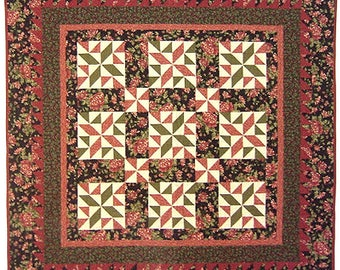 Thimbleberries CRANBERRY SPARKLE Quilt Pattern Throw, Lap Wall Lynette Jensen Patchwork RARE