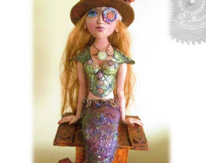 Doll Making Class,  Rebecca – Steampunk Mermaid Art Doll Project by Susan Barmore (PDF Download) - SE509