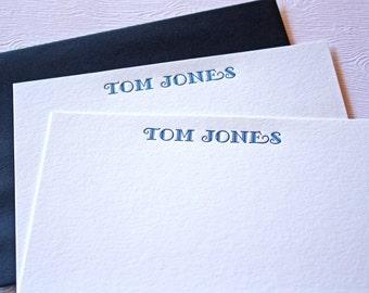 Personalized Letterpress Stationery Fancy Font