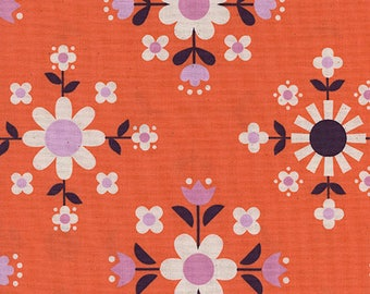 Florametry in Sweet Orange -Welsummer -Kim Kight for Cotton + Steel