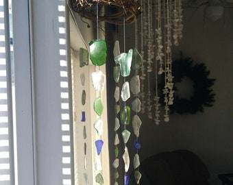 Puerto Rican sea glass wind chime