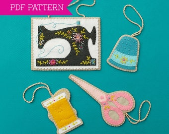 Sewing Ornaments, PDF pattern, Ornament Pattern, Sewing Machine, Sewing Pattern, Sewing Supplies, Christmas Ornament, Gifts for Quilters