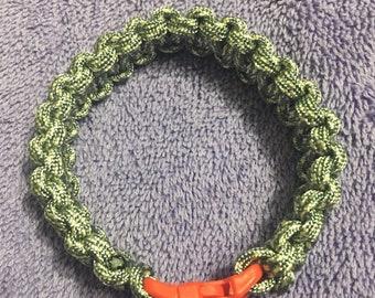 Grey paracord bracelet