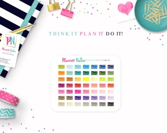 Credit Card Tracker Bill Payment Planner Stickers - Choice of Color Perfect for Erin Condren, Filofax, Plum Planner, Kikki K and more!