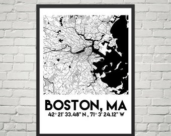 Map Poster of Boston, Massachusetts (Instant Download)