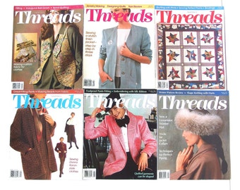 Vintage 1994 Threads Magazine, No. 51 to 56 with Index