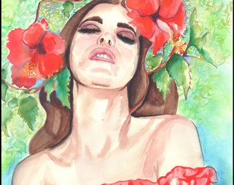 watercolour painting / original painting / Pause for a moment / original artwork / wall art /