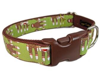 Sock Monkey Dog Collar, Lime Green Dog Collar, Cute Dog Collar, Small Dog Collar, Custom Dog Collars, Limited Edition, Dog Lover Gift