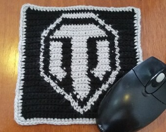 CROCHET PATTERN  in Mouse Pad  World of tanks-  crochet pattern instant download