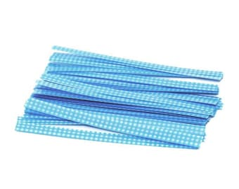 Ties for bags of candy or cookies - blue - ties for drawstring bags-candy - 12 cm - set of 10, 25 or 100