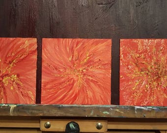 encaustic painting fireworks