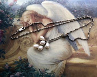 Beautiful Silver/Gold Pearl Necklace