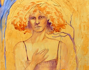 Oil Painting Goddess art - Giclee Print - Wandering Heart spirit painting