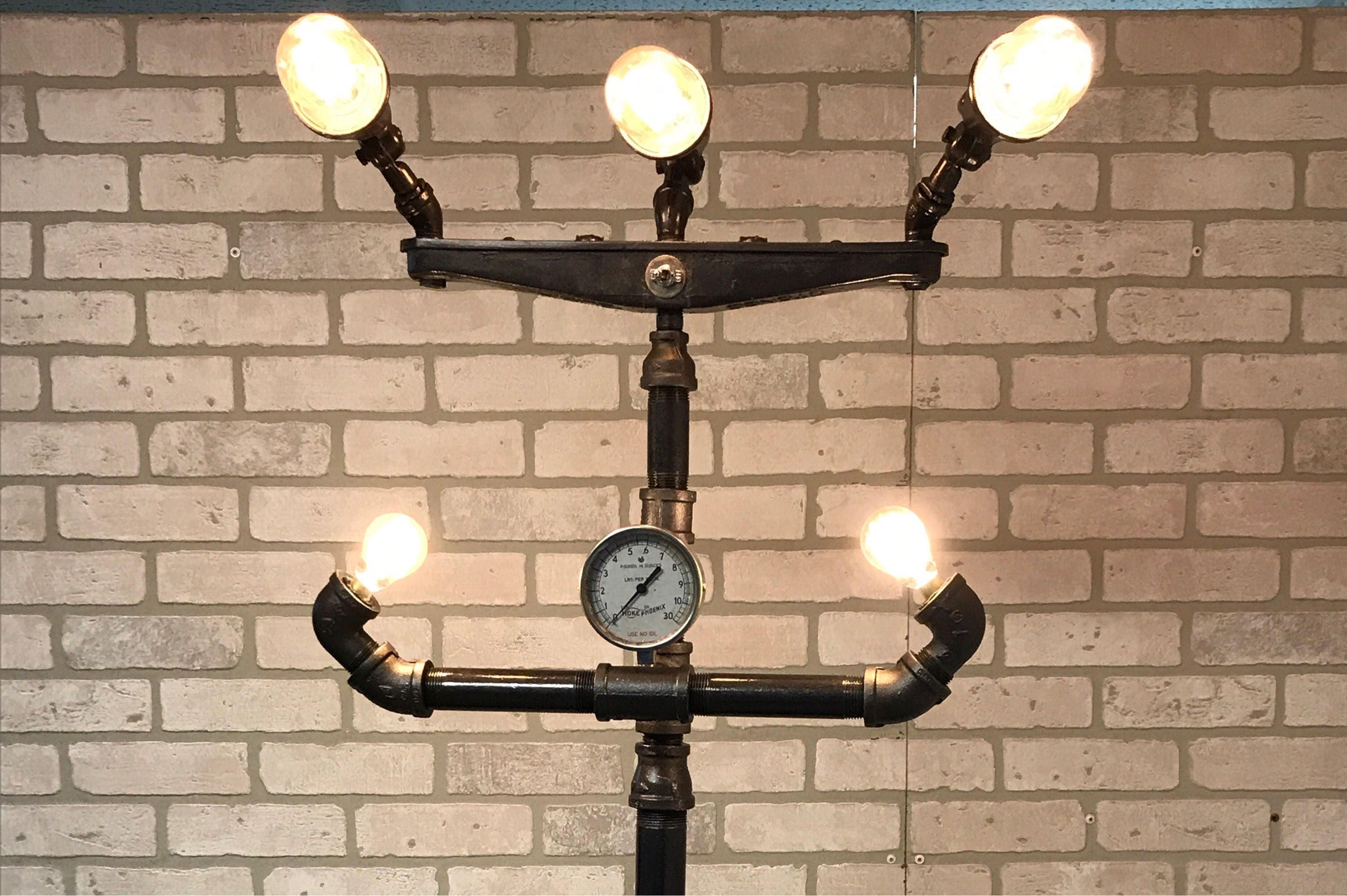 galvanized industrial insight lamp wonderful light chandelier black most pipe socket lighting diy iron