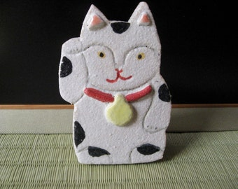 Pottery,Manekineko ornament #2, beckoning cat,Lucky cat