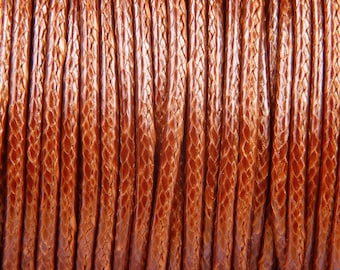 "10 meters of waxed polyester cord 2mm ""camel"" Korean"