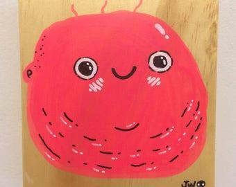Chubby Baby- Acrylic on Wood