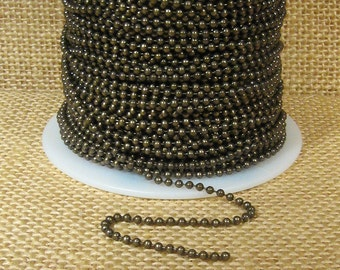 2.0mm Ball Chain - Antique Brass - CH110-AB - Choose Your Length