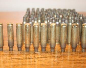 100 pieces,223 bullet casings,empty bullet shells,brass bullet,brass shell,shell casing,bullet casing jewelry,bullet,223 bullet,223 brass