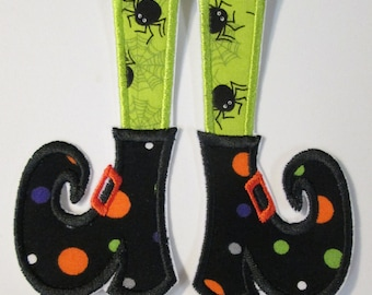 Halloween Iron On Witch Shoes