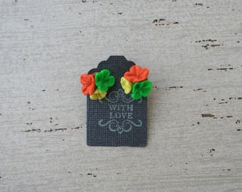Floral Cluster Clay Earrings
