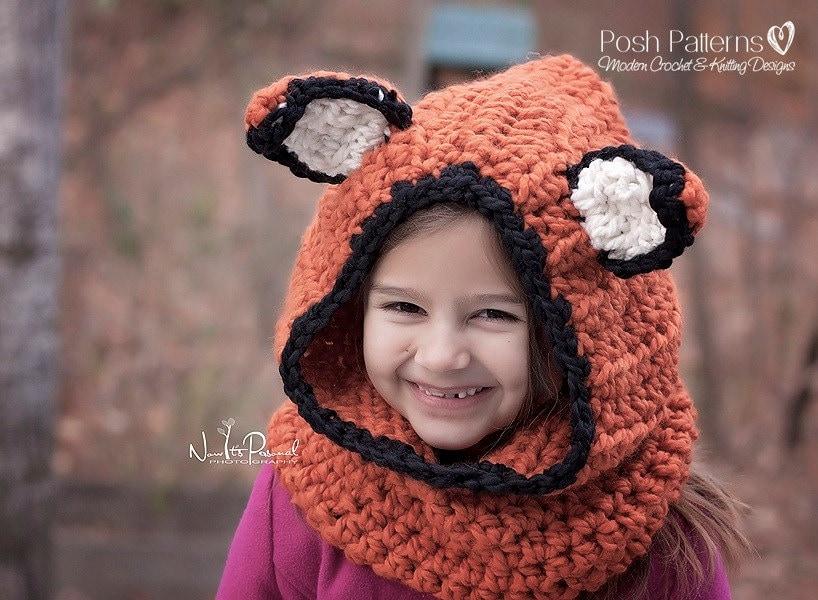 Asombroso Crochet Pattern Hooded Cowl Regalo - Manta de Tejer Patrón ...