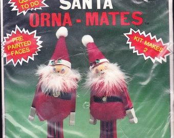 Mini Clothespin Pom Pom Santa Orna-Mates Makes 2