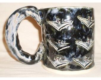 Bat Stamp Ceramic Coffee Mug