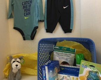 Baby Boy Shower Basket - Catch Me If You Can!