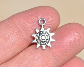 BULK 50 Silver Sun Charms SC2952