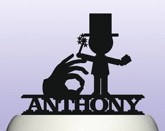 Personalised Acrylic Magician Cake Topper