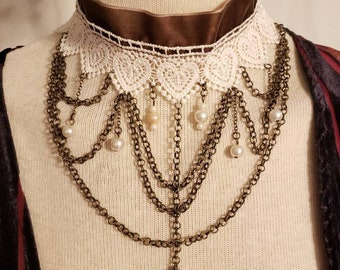Nikola Tesla Victorian-style Choker Necklace