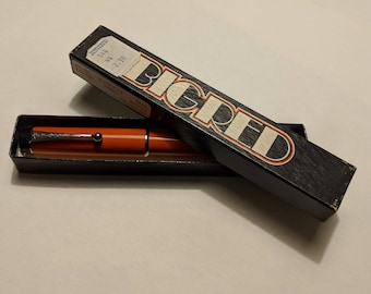 Vintage Parker Pen, Big Red, Refillable Ballpoint Pen, 1970s, in Original Box, Smooth Writing