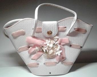 Vintage Easter Basket Handbag 1960's