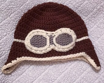 Crochet Aviator Beanie