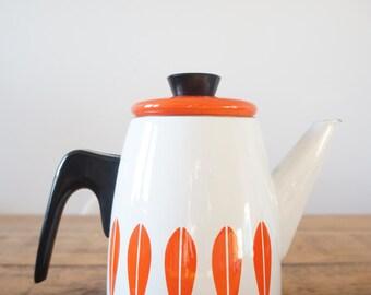 Vintage Catherine Holm enamel lotus teapot
