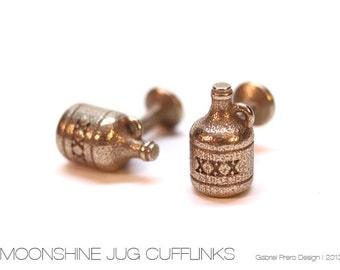 Stainless Steel Moonshine Jug Cufflinks