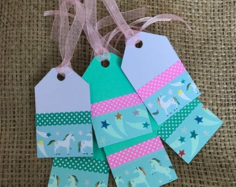 Unicorn gift Tags - Set of 6 Gift Tags - Birthday Tags - Gift Tags
