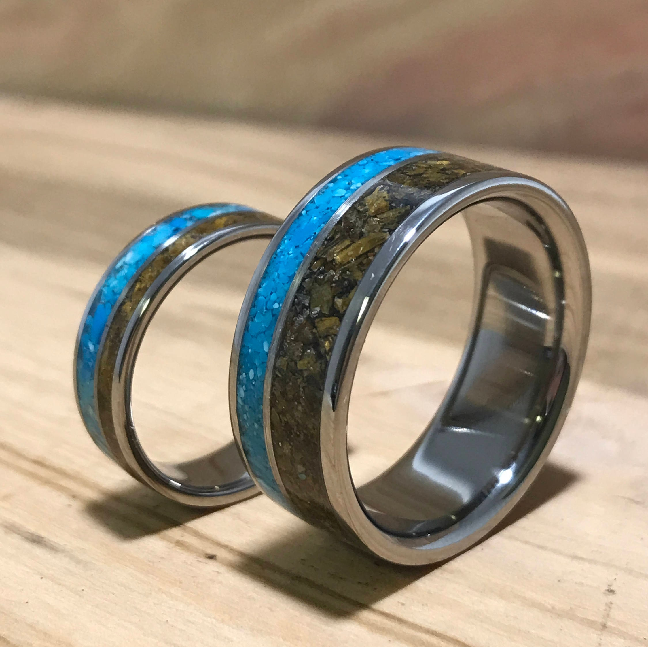 titanium eye il rings fullxfull womens swzr stone ring tigers listing unique turquoise wedding