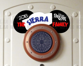 Our Family Cruise Porthole Ears - Disney Cruise Magnet - Door Magnets