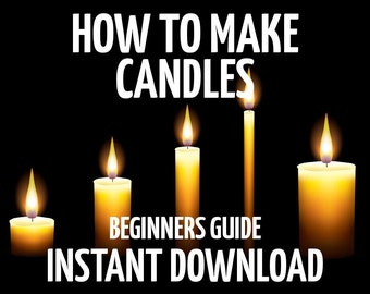 How to Make Candles, Candlemaking for Beginners, Wiccan Candles, Witchcraft Candles, Kitchen Witch, Book of Shadows Pages