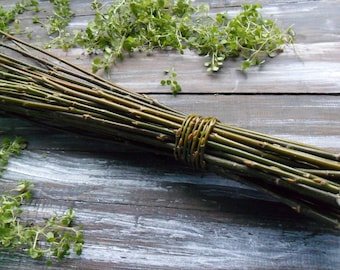 "30"" Extra-long willow twigs Willow bundle Eco friendly natural decor Vase filler Farmhouse style Rustic decor Eco wood decor Craft supply"