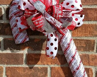 Christmas Candy Cane, Door Hanger