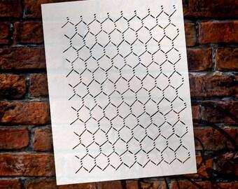 """Chicken Wire"""" Stencil -8 1/2"""" x 11""""- by StudioR12 - STCL146"""