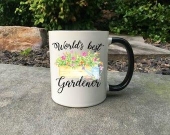 World's best gardener mug, Mug for Gardener, Gift for gardener, gardening mug, farmers gift, gift for her, farmers wife gift, gift for mom