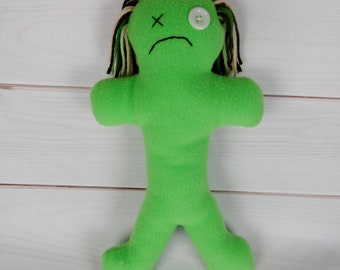 Ready to Ship - Large Damit Doll - lime green