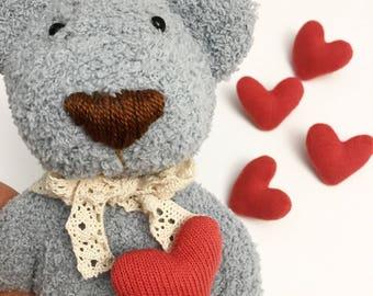 A Handmade Cute bear Doll/ BEAR doll / Handmade doll / Baby shower gift / Baby birth gift / Animal plush / Rattle doll /Bedroom decoration