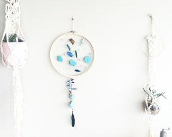 Custom Mermaid Dream Catcher- DreamCatcher- Turquoise Wall Decor- Wall Accent Decor- Bohemian decor- Boho Decor- Home Decor- Hippie- Gypsy